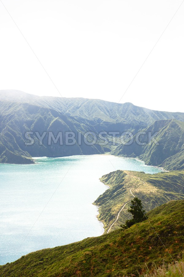 Hazy Lagoa do Fogo - Jan Brons Stock Images