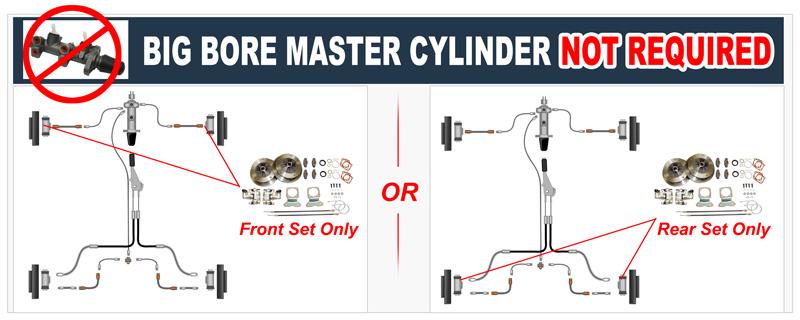 VW Dual Circut Master Cylinders, Dual Disk Brake Systems-JBugs