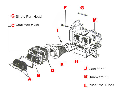 VW Engine Parts, 1300CC - 1600CC Engines-JBugs