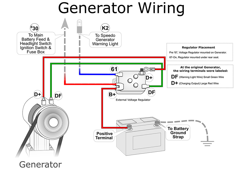 1970 vw generator wiring diagram