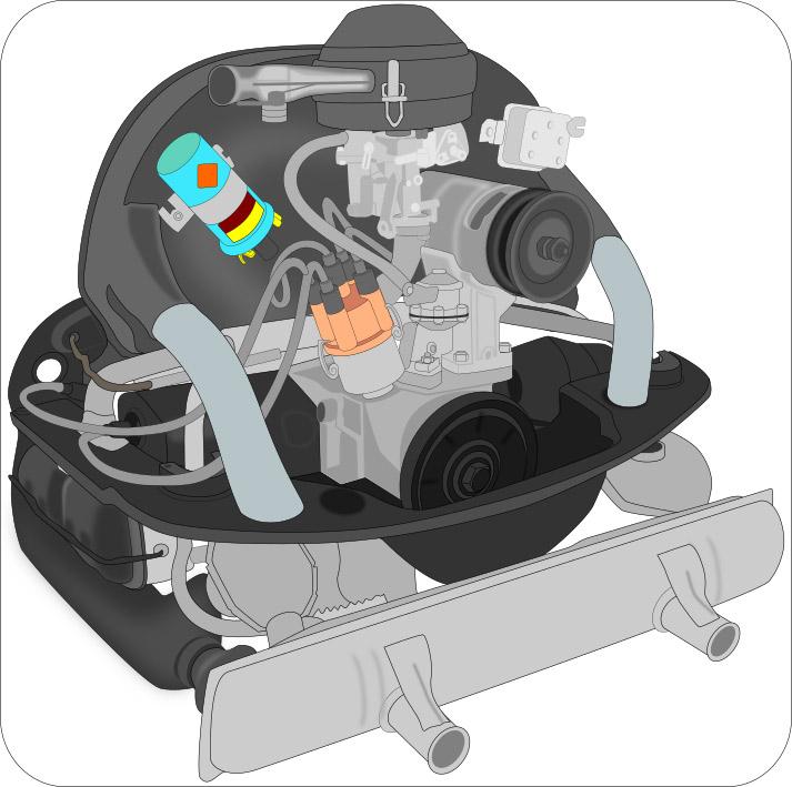 1970 vw 1600cc engine diagram