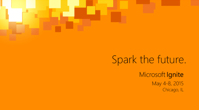 #MSIgnite sessions available in a single spreadsheet