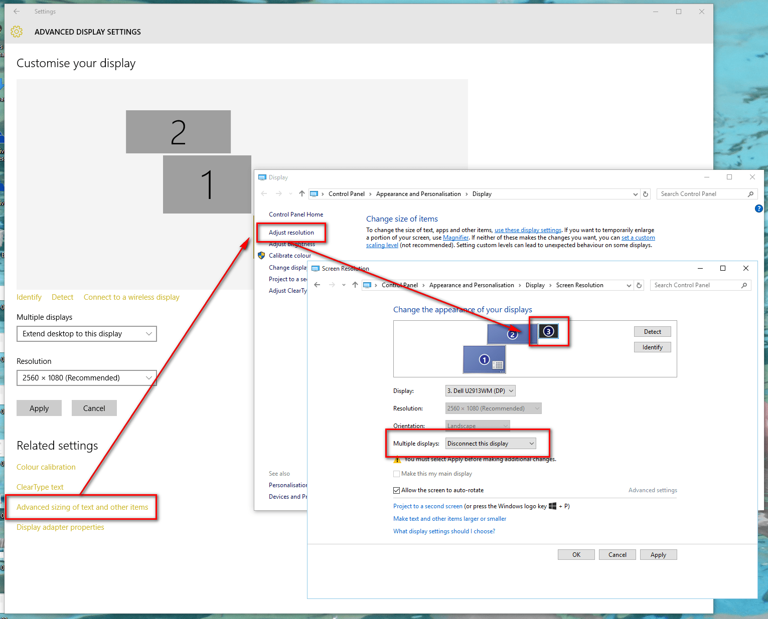 windows 10 how to see video resolution