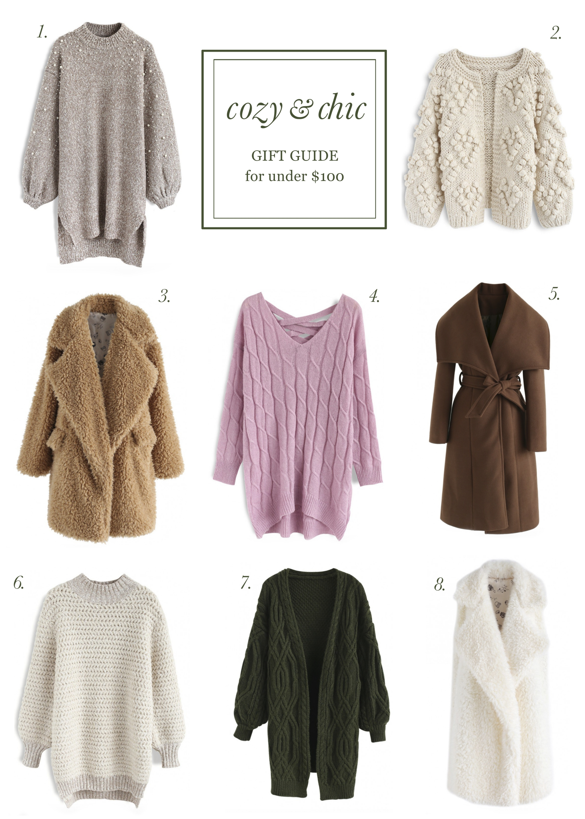 cozy and chic gift guide under $100