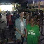 JCI Alabang member Dhesiree Arevalo with Sucat Evacuees