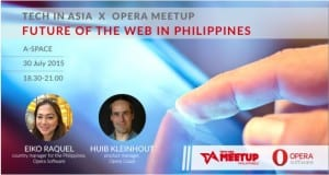Tech in Asia x Opera Manila meetup on July 30