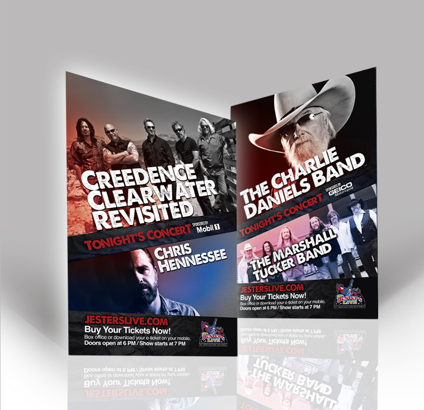 CCR and Charlie Daniels Band Concert Flyers - jcreationsdesign