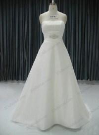 JCD12040 Plain simple white chiffon outdoor wedding dress