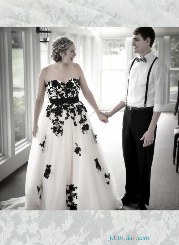Black and White Colored wedding Dresses online,black wedding gowns - wedding photo black and white