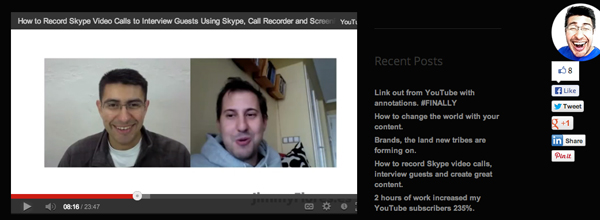 Tips on how to record a Skype video call from Jimmy Flores - Record Skype Video Calls