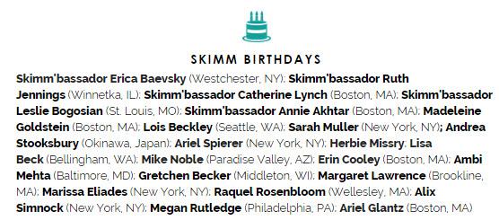 the skimm birthdays