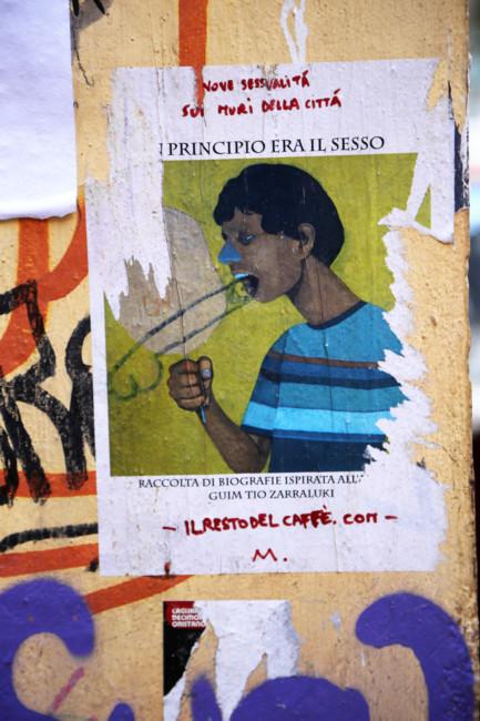 Phallic Graffitti, Caligari, Sardinia