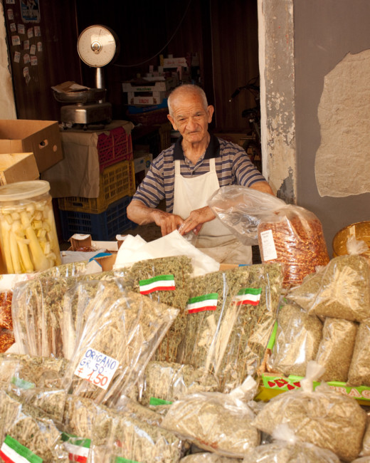 Cheese Vendor, Catania, Sicily