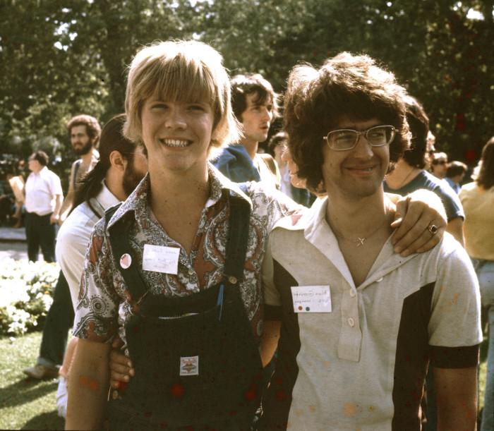 Jamie at Toronto Gay Pride 1977