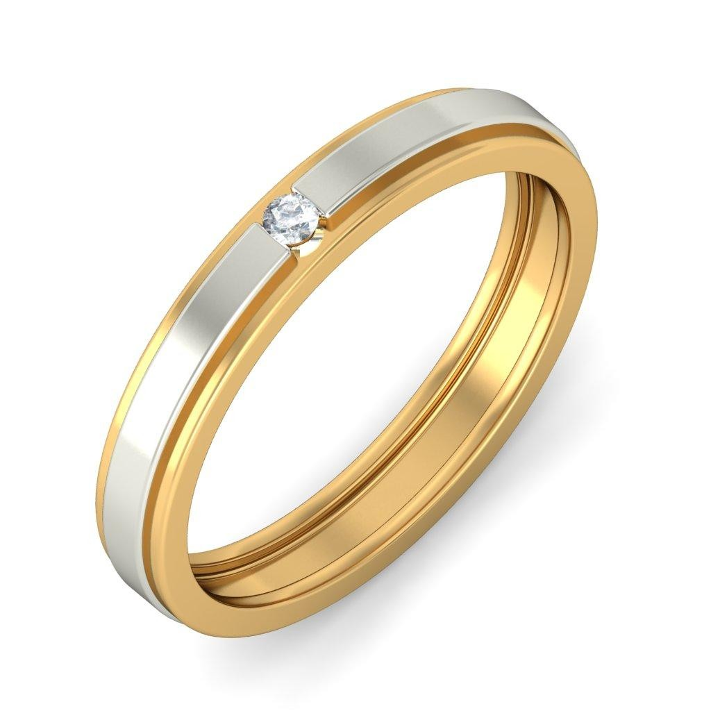 affordable round diamond wedding band in two tone gold wedding band prices Affordable Round Diamond Wedding Band in Two Tone Gold