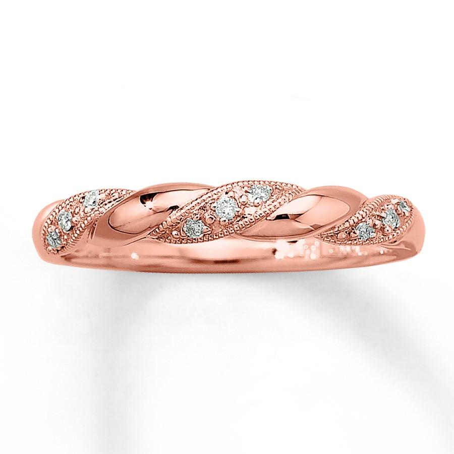 76 rose gold engagement rings n 50&orderby price&orderway asc rose gold wedding rings Inexpensive Round Diamond Wedding Ring Band in Rose Gold