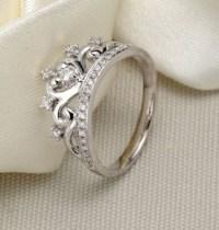 Unique Princess Crown Half Carat Diamond Engagement Ring ...