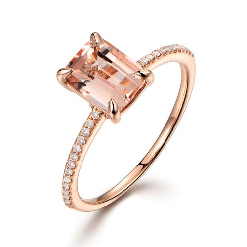 Medium Crop Of Morganite Rose Gold Ring
