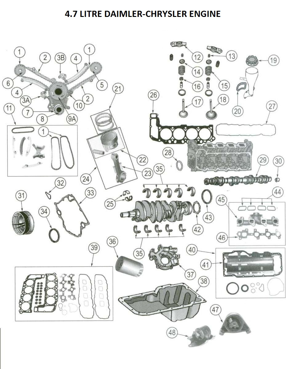 2004 ford pick up engine parts diagram