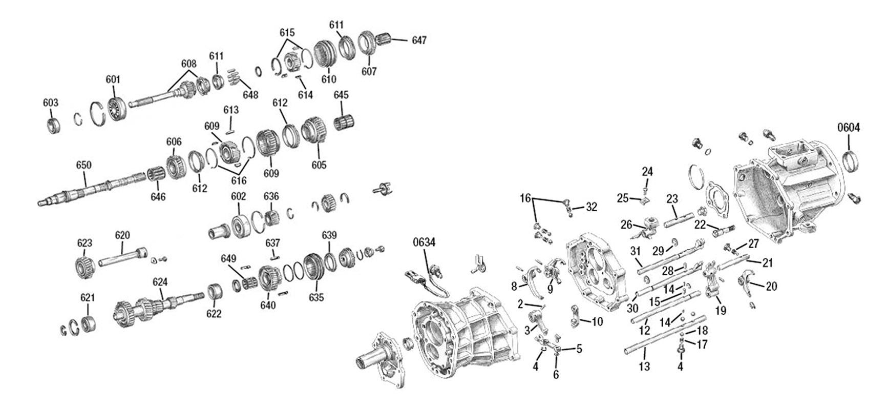 jeep wrangler 2 5 Schema moteur