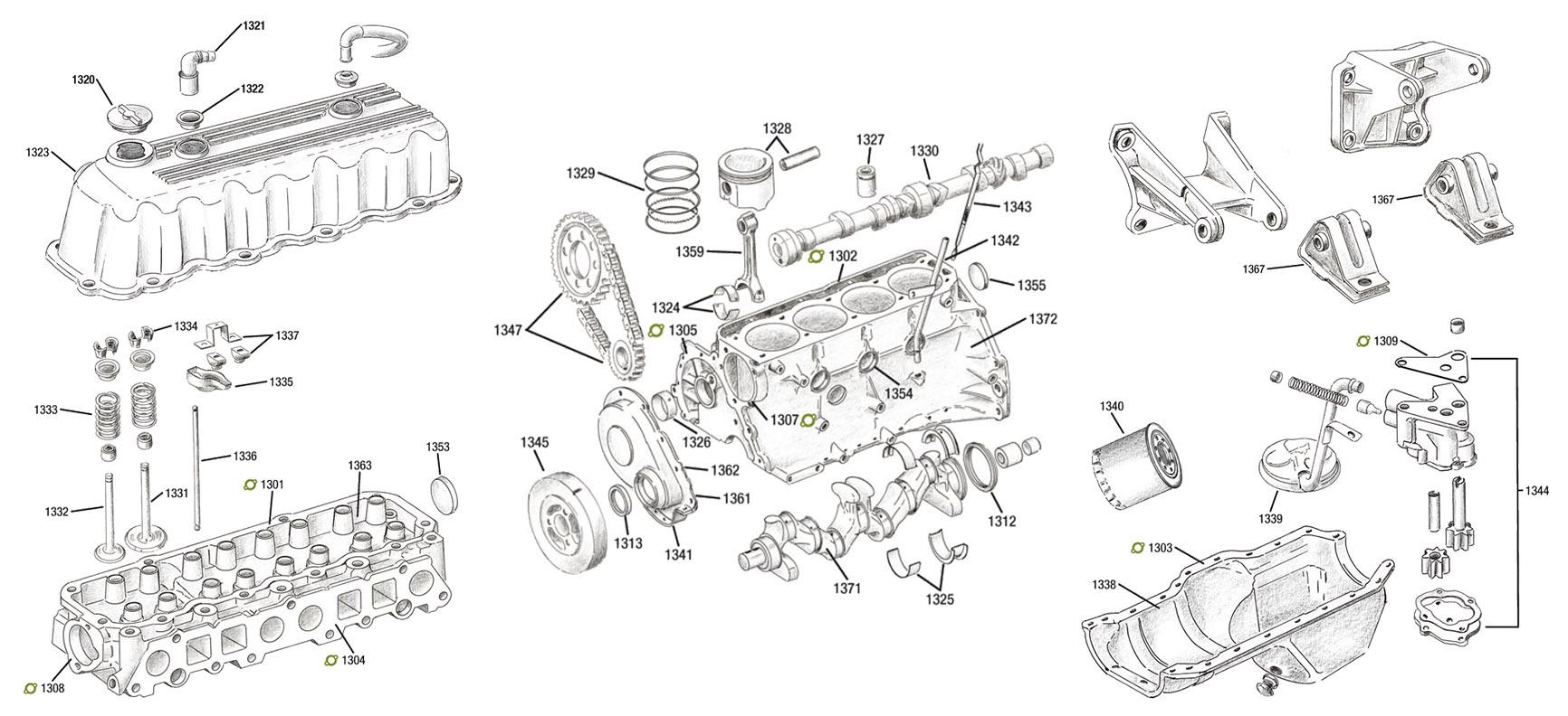 pt cruiser 2 4l Schema moteur