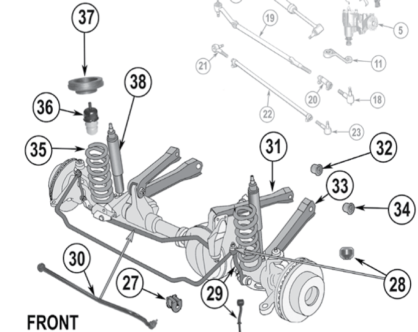 jeep grand cherokee front suspension diagram
