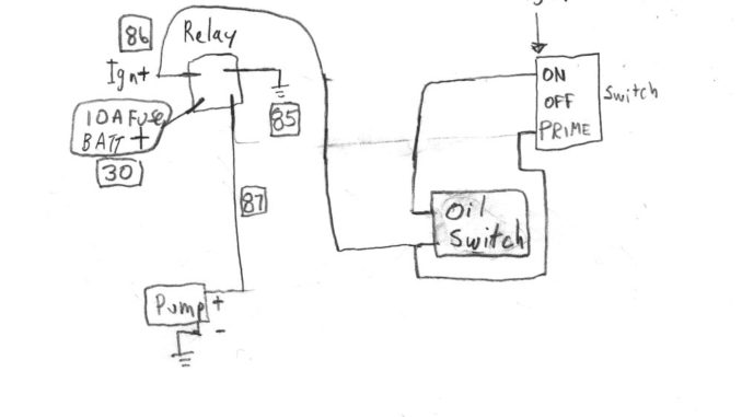 wiring a relay for fuel pump