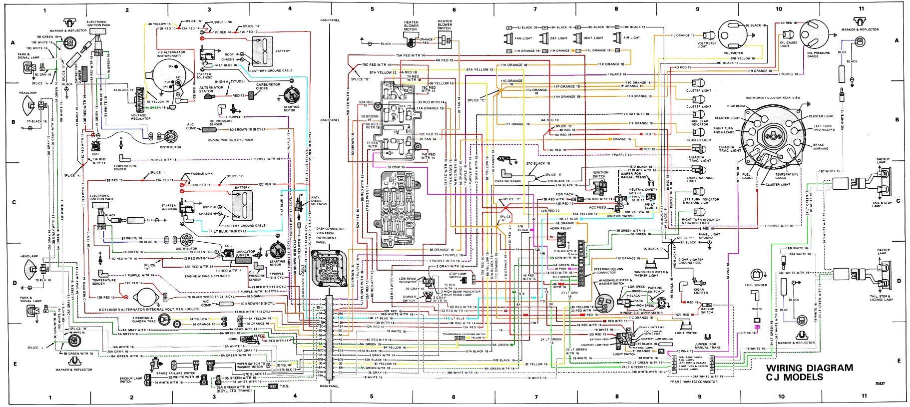 1965 Cj5 Wiring Diagram Wiring Schematic Diagram