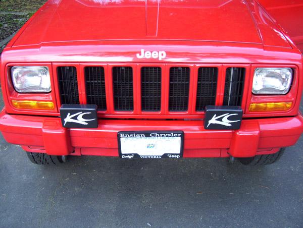 Fog lights on stock xj bumper - JeepForum