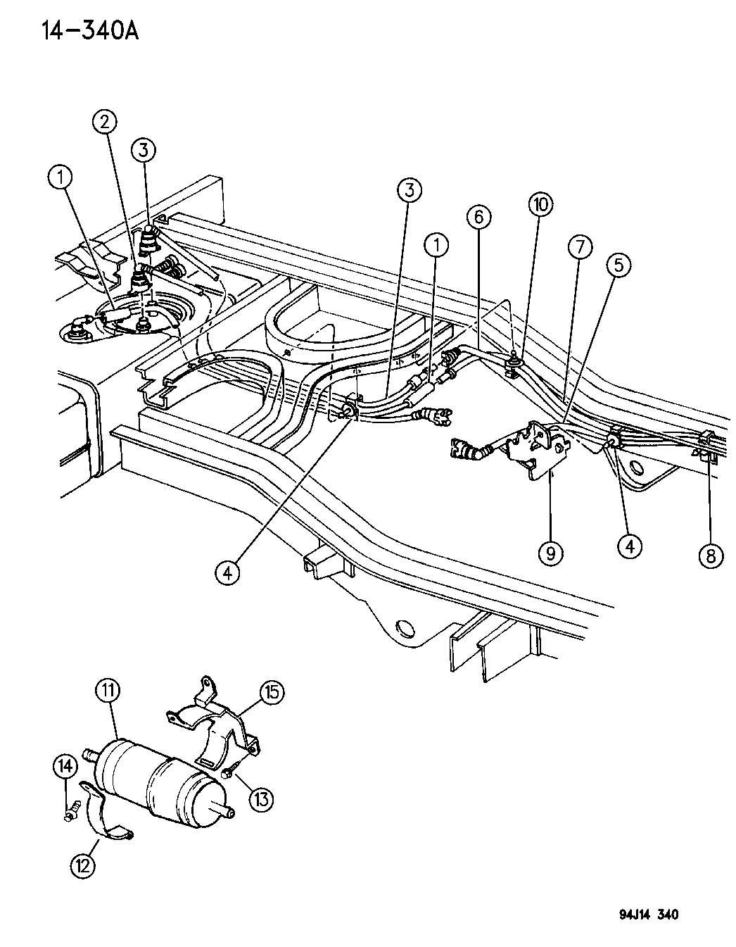 1993 jeep wrangler fuel filler hose