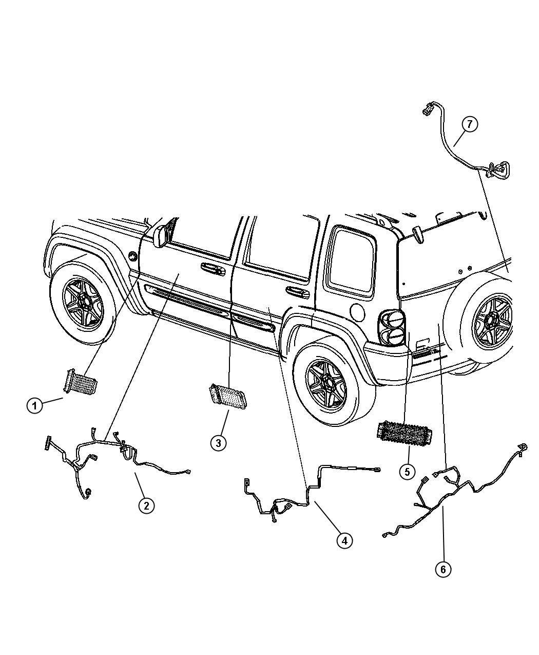 jeep zj door lock wiring