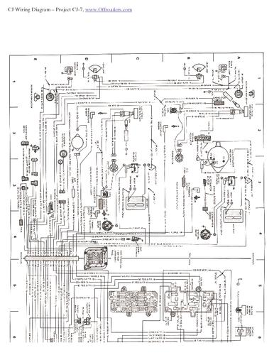 jeep cj7 starter wiring diagram