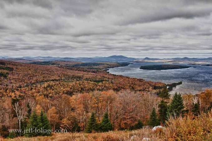 Rangeley Lake Main view from above