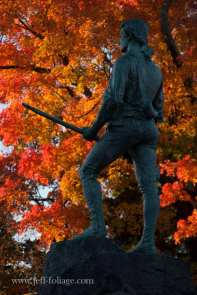 Minuteman statue in Lexington MA