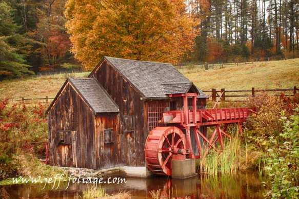 The old Crawford farm gristmill in Guildhall Vermont
