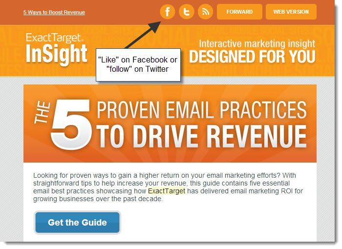 Exact Target email and social integration - Jeffbullas\u0027s Blog