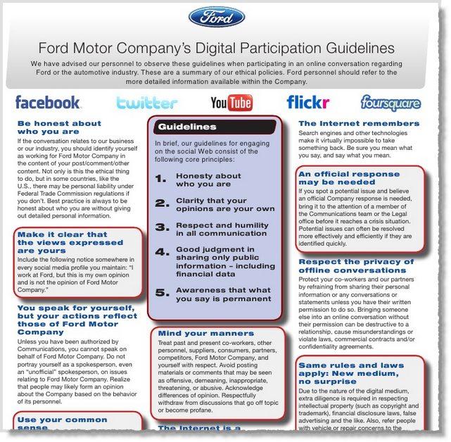 Ford Social Media Policy - Jeffbullas\u0027s Blog