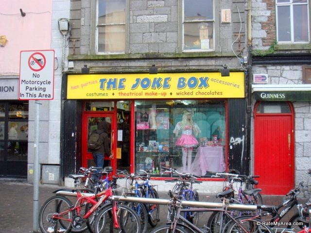 The Joke Shop where the lad lived.