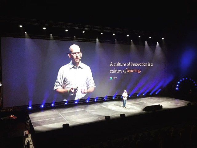 Jeff on stage at Webdagene, Oslo 2015