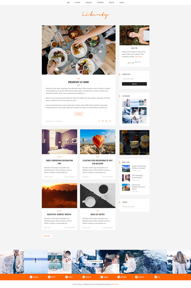 WordPress Themes for Photographers - advertisement brochure
