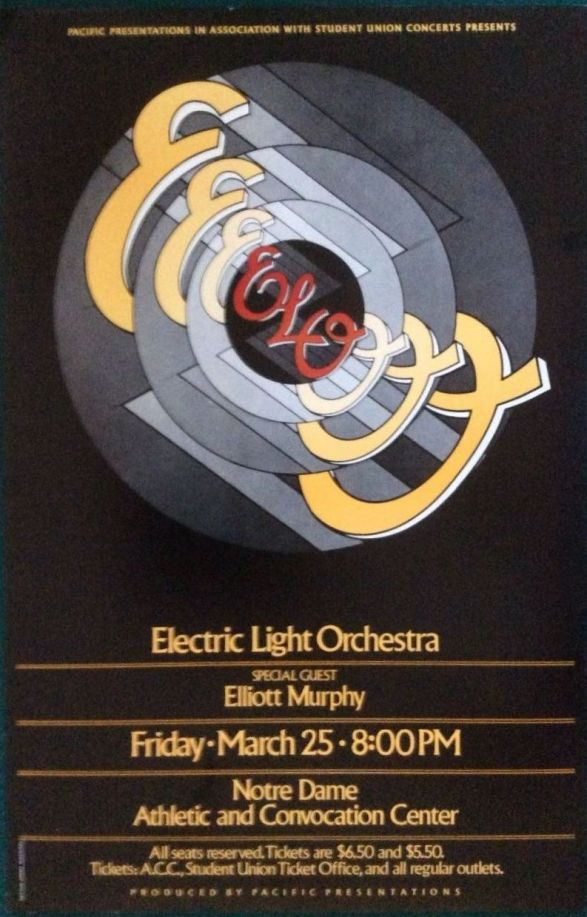 The spaceship---used in concerts during the late 70u0027s and early - concert flyer