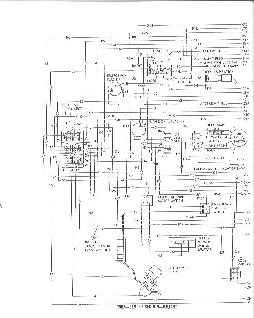 1967 plymouth barracuda dash wiring diagram