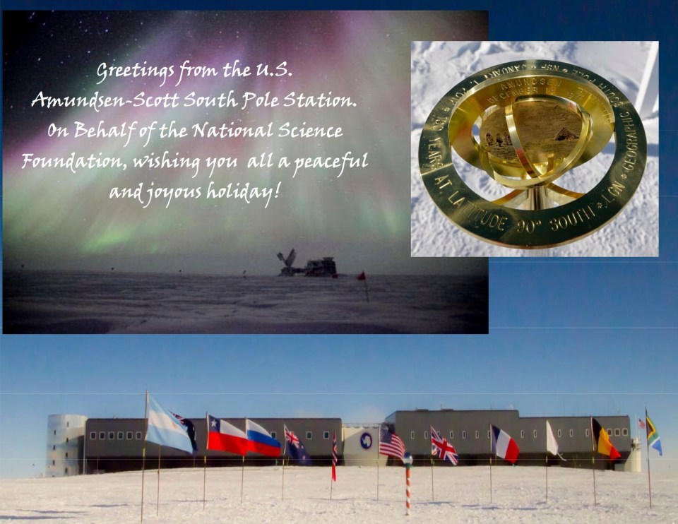 South Pole Holiday Card 2012