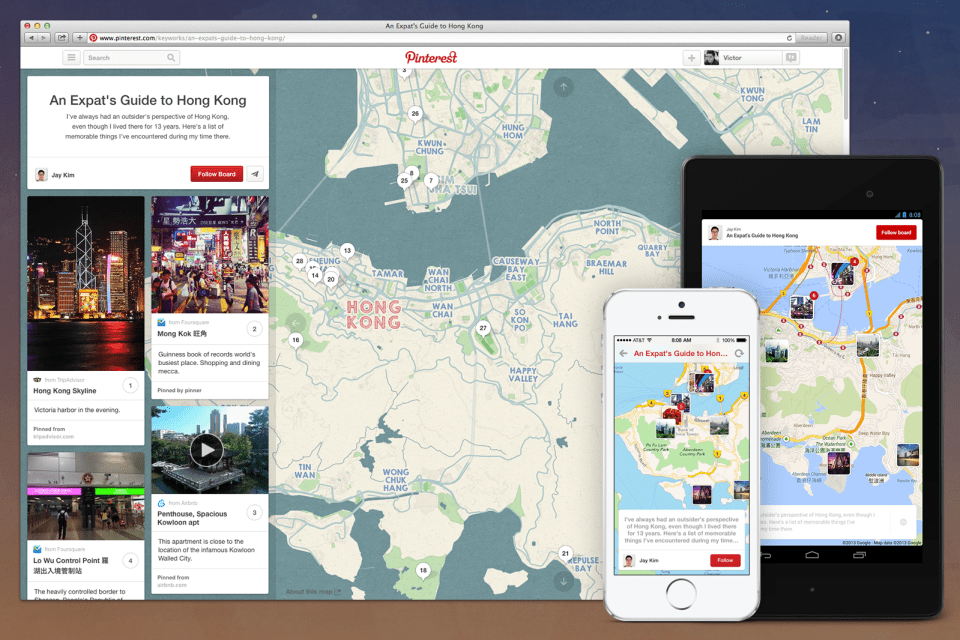 Pinterest Place Pins in action