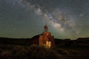 Milky Way Over Bodie Firehouse