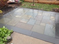 Full Color Bluestone Patio with Thermal Border | Jeff Timm.com