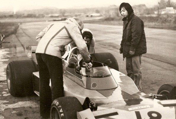 1976 – Formula 1 testing (Surtees TS16 Ford Cosworth) in Goodwood (England)