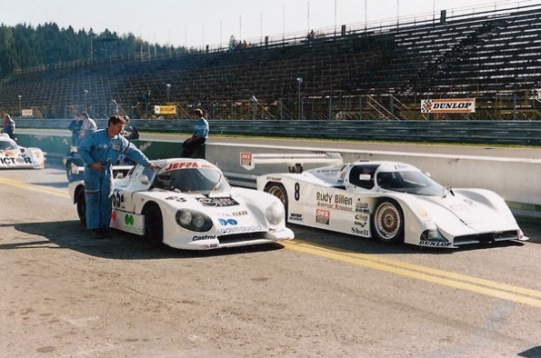 1989 - Start of his last race in Zeltweg (Austria) with Lola Mazda RX7