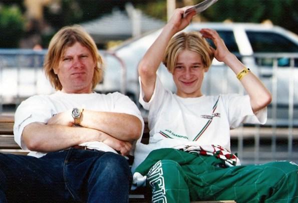 1995 - Domen with his father in Monaco