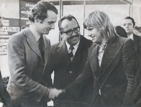 1975 - Franc Jerancic and Niki Lauda in Zagreb
